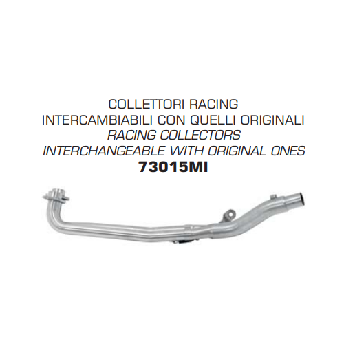 COLECTOR ACERO INOXIDABLE ARROW NO HOMOLOGADO