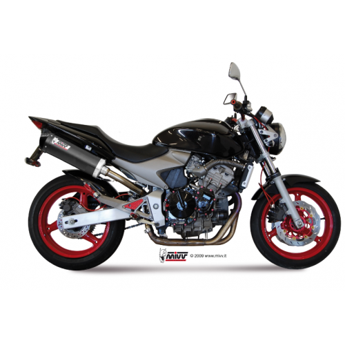 COMPLETE OVAL EXHAUST CARBON MIVV APPROVED