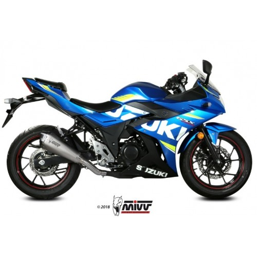 DELTA RACE EXHAUST APPROVED MIVV GSX 250 R 2017-18