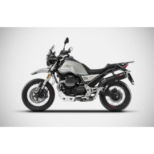 SILENCER ZARD BLACK CERAMIC MOTO GUZZI V85 TT