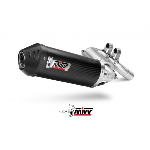 Mivv Carbon Oval Exhaust EURO5 Approved