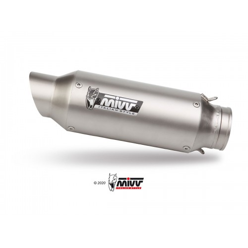 EXHAUST M2 STAINLESS STEEL MIVV APPROVED