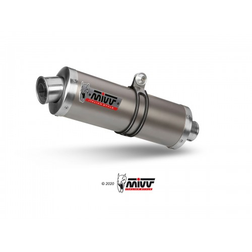 EXHAUST OVAL TITANIUM MIVV NOT APPROVED