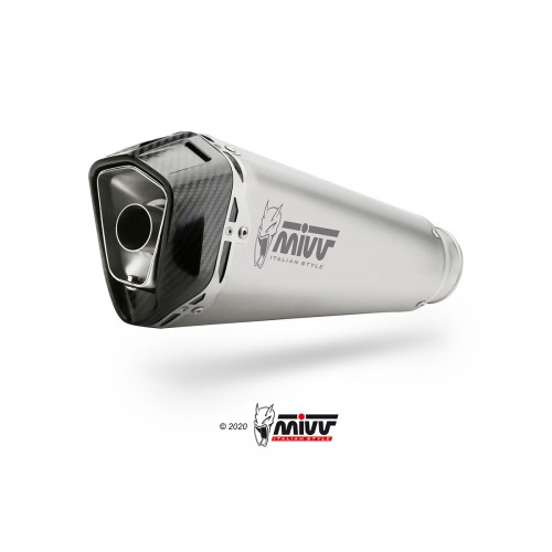 Exhaust Delta Race Black Inox Approved