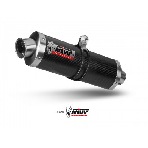 OVAL CARBON EXHAUST MIVV APPROVED