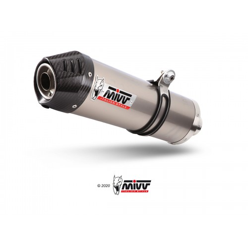 Oval Carbon Exhaust Mivv Homologated
