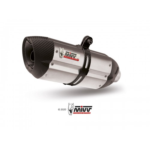 EXHAUST STAINLESS STEEL MIVV APPROVED