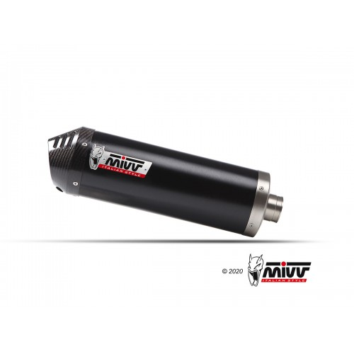 OVAL OVAL EXHAUST BLACK MIVV APPROVED
