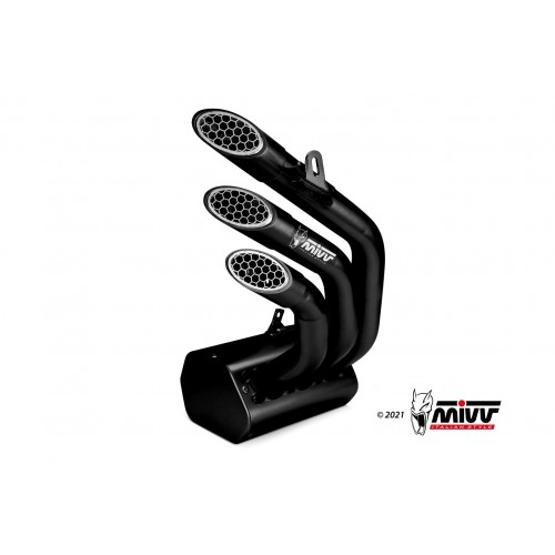 Exhaust Speed Edge Black Stainless Steel Mivv Approved