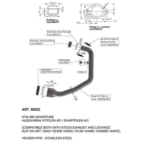 LeoVince 390 ADVENTURE manifold 2020 - 21